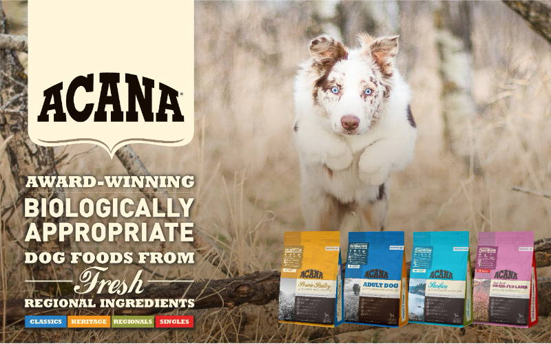acana dog and cat food collection at pawpy kisses online pet shop.