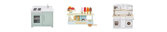 wooden play kitchens & shops