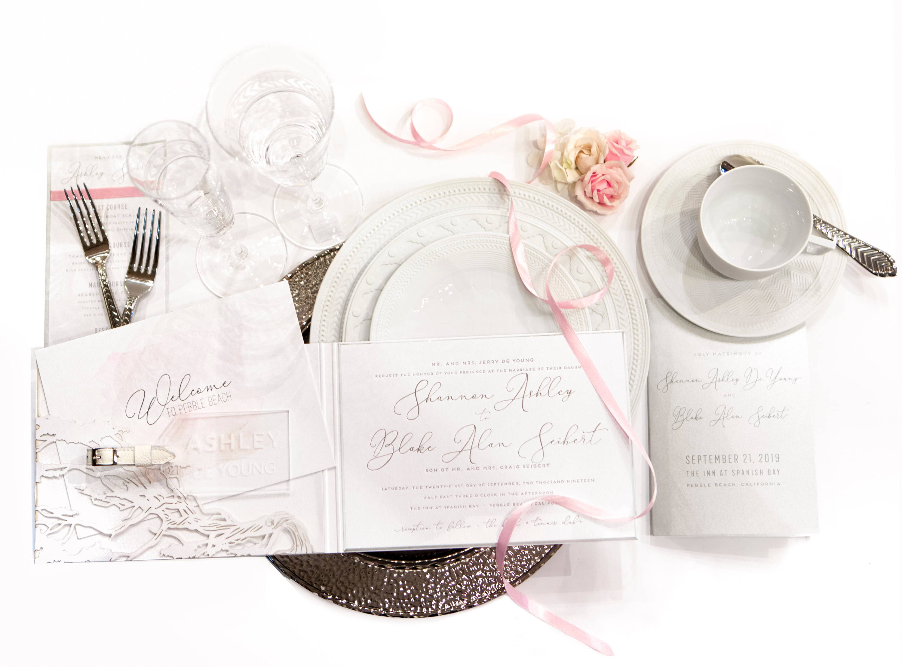 Shannon Ashley DeYoung Seibert Wedding Invitation Suite and Bridal Registry by RSVP Style