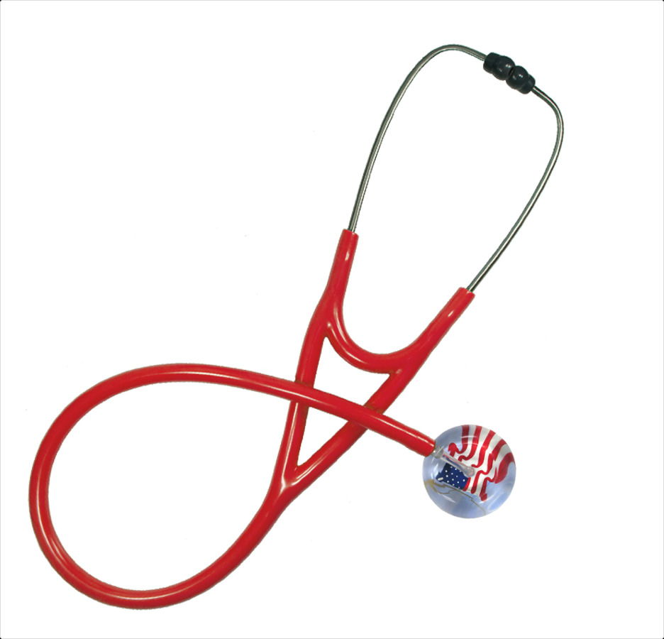 red customizable stethoscopes