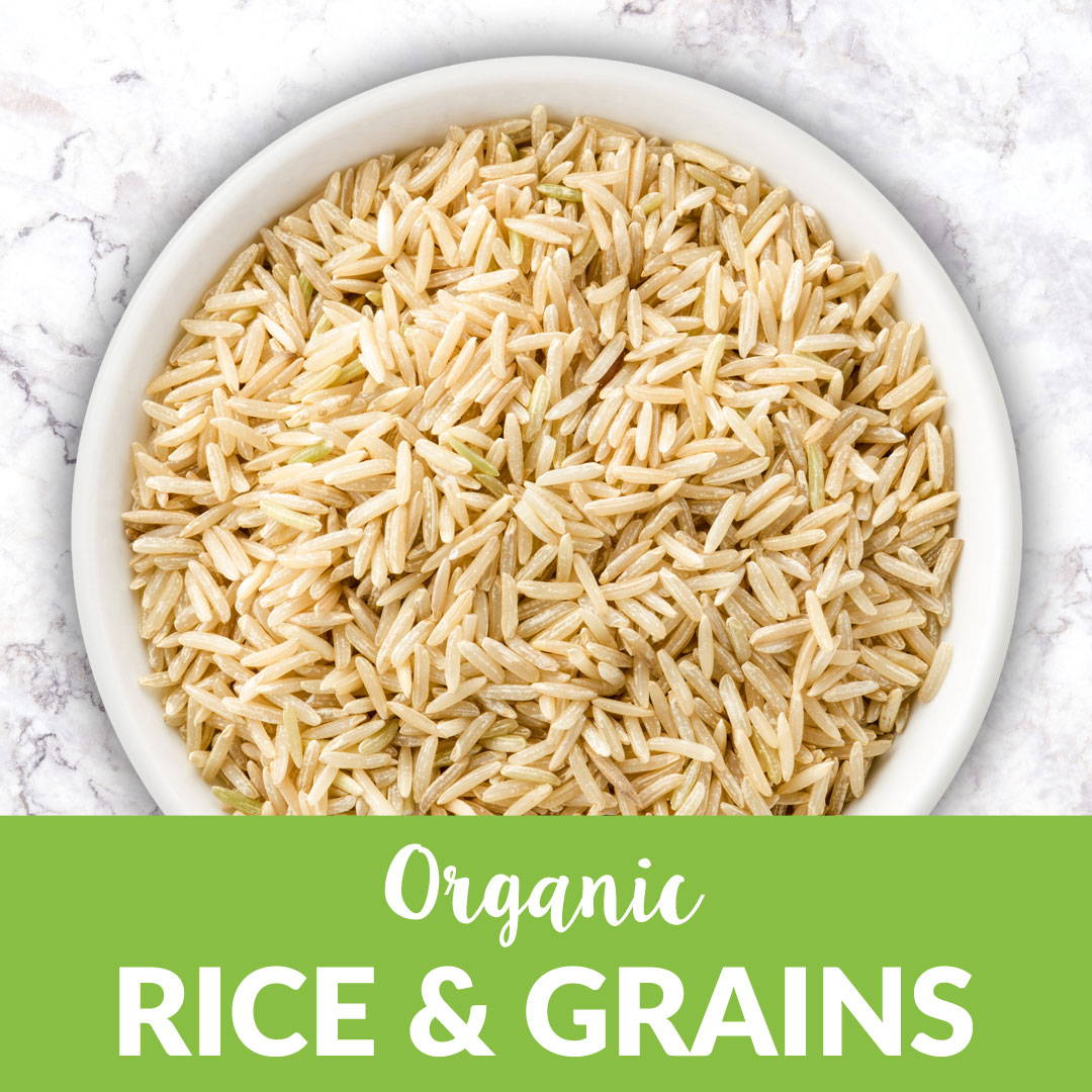 organic rice and grains bulk