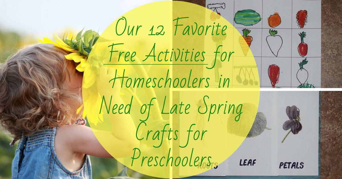 12 Free Homeschool Activities Cheap Spring Crafts For Preschoolers