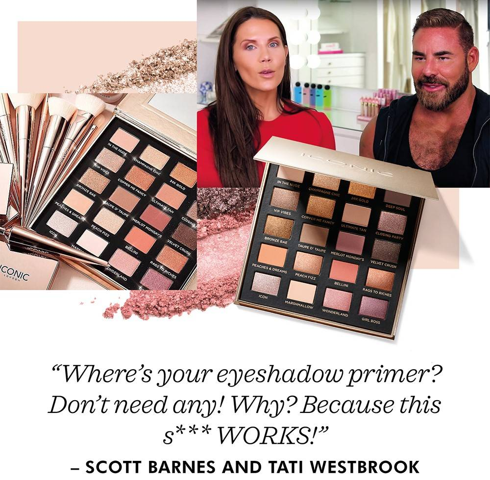 Scott Barnes and Tati Westbrook Day to Slay eyes shadow palette review