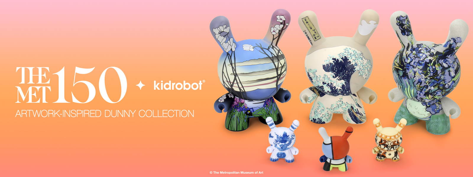 Kidrobot x The MET Dunny Art Toy Figures