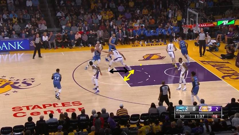 Bad defensive stance by Javale