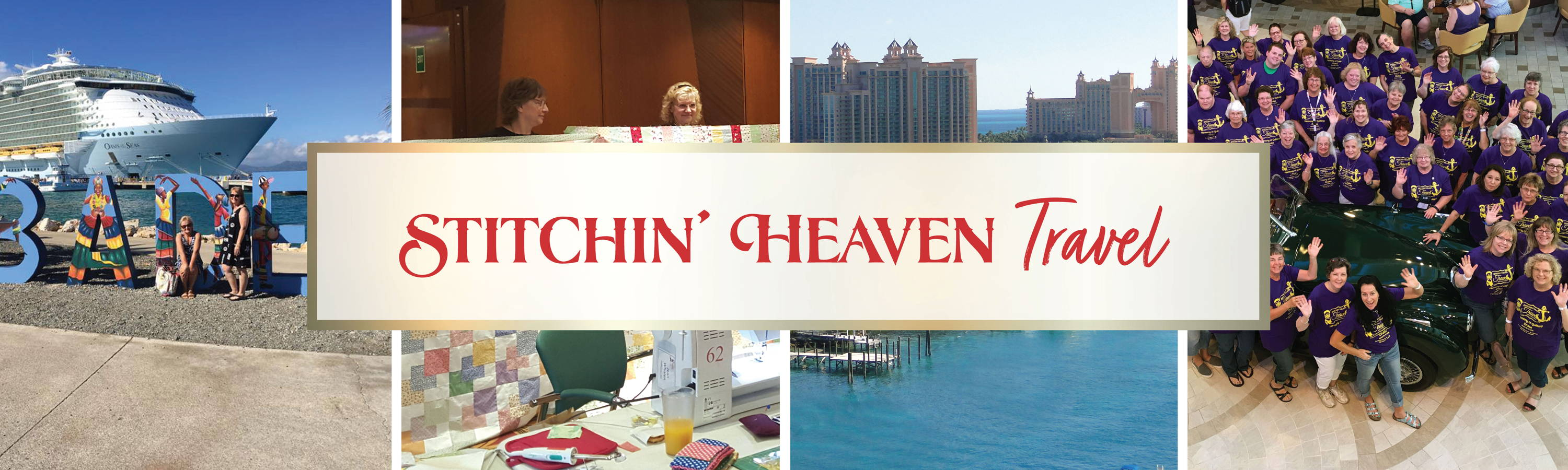 Stitchin' Heaven Travel offers quilting retreats and cruises.