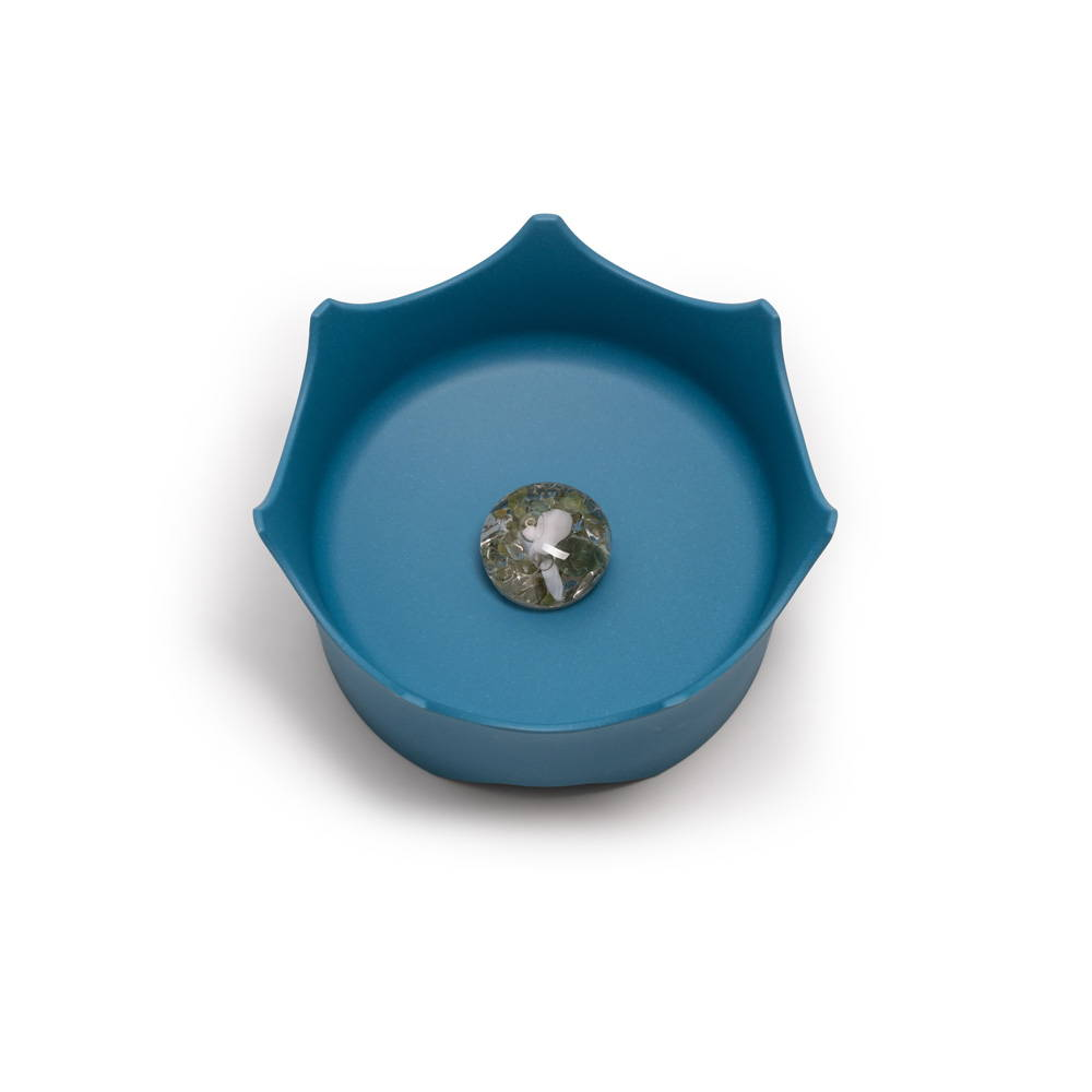 CROWNJUWEL GEM-WATER PET BOWL BY VITAJUWEL - OCEAN BLUE
