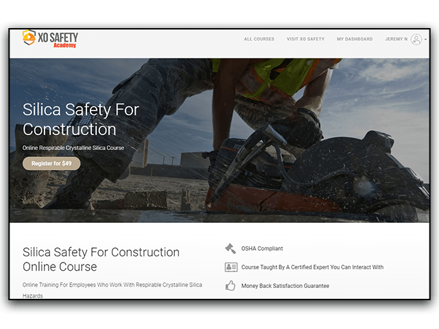 Online Silica Safety Training Registration