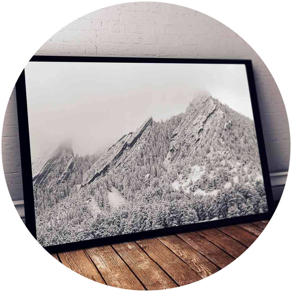Canvas print of Boulder flat irons