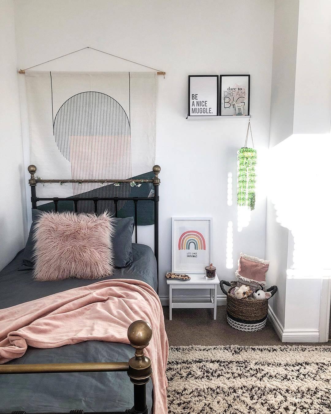 monochrome kid's bedroom