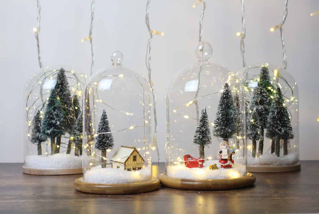 Weihnachtsdeko Schneekugel.Diy Schneekugel Lights4fun De