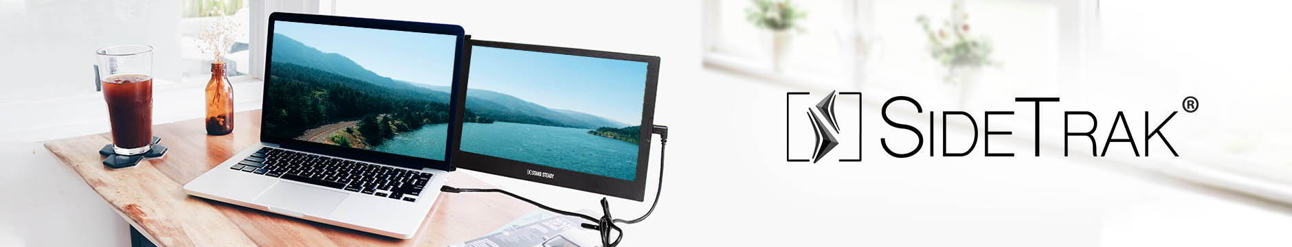 Showcasing SideTrak portable laptop monitor attachable screen