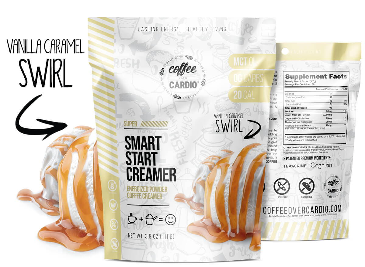 Smart Start Creamer - Vanilla Caramel Swirl - MCT Oil - Nootropics - Coffee Over Cardio