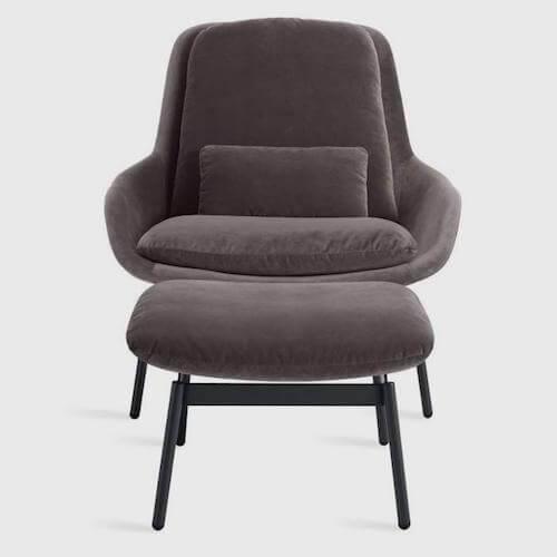 Blu Dot Field Lounge Chair Velvet