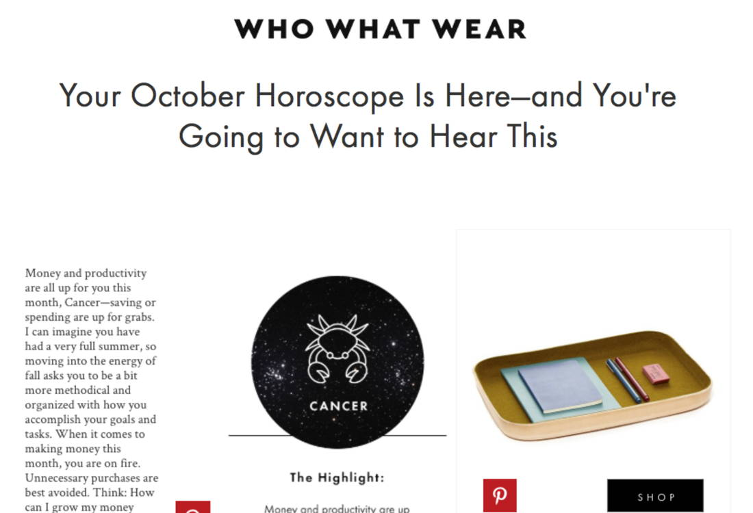 Who What Wear October Press