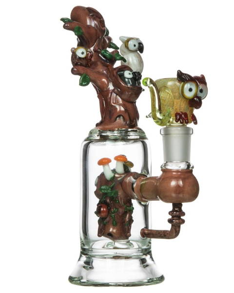 American Glass Hootie Owl Water Pipe