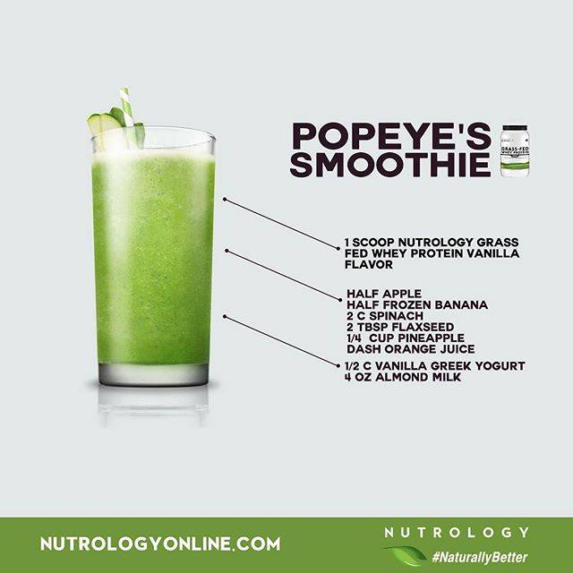 Nutrology Popeye's Smoothie Recipe