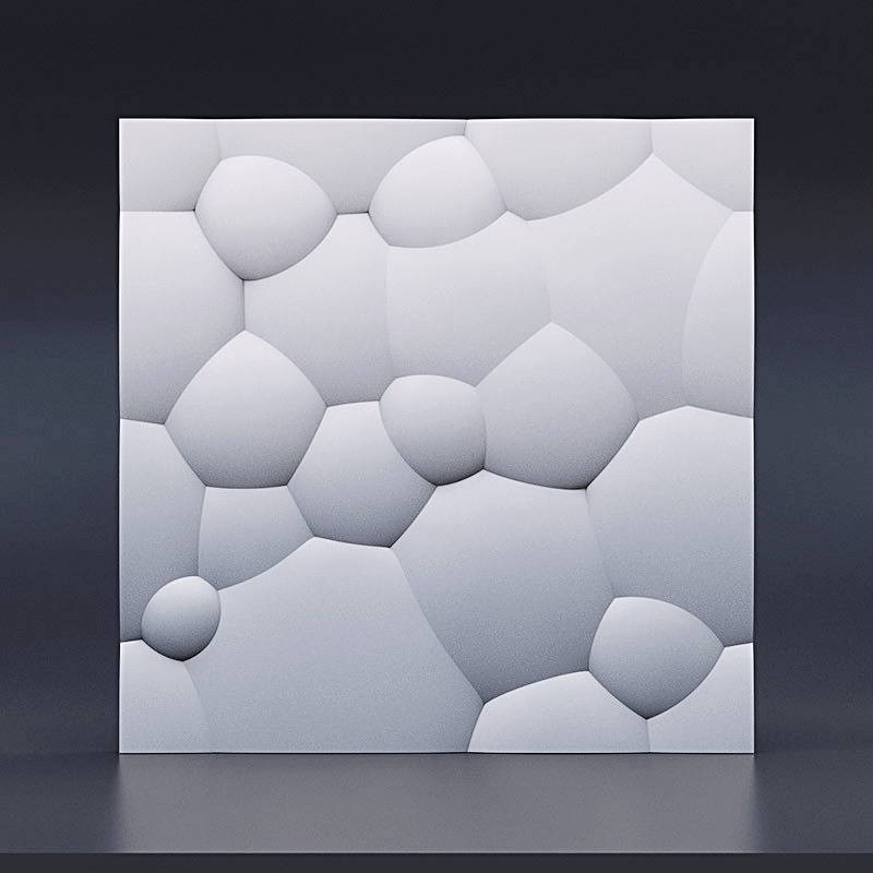 3D Ceramic Gypsum - model BUBBLES