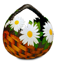 Beautiful flower gourd basket by Pat Greer