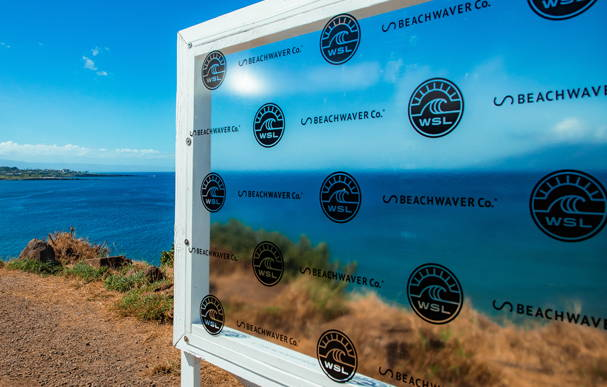 Beachwaver's interview venue at the Beachwaver Maui Pro Women's Surf Championships