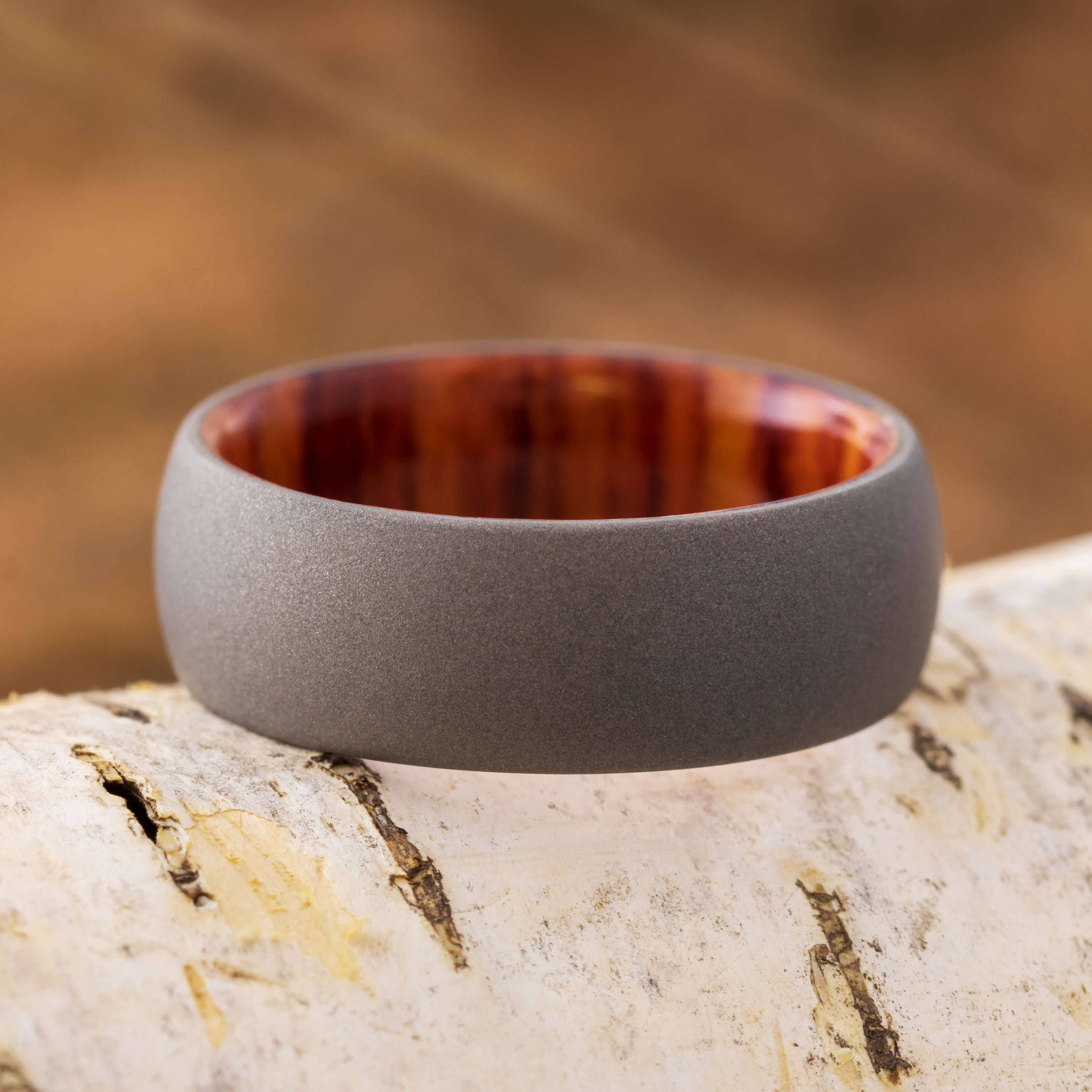Ring With Wood Inside