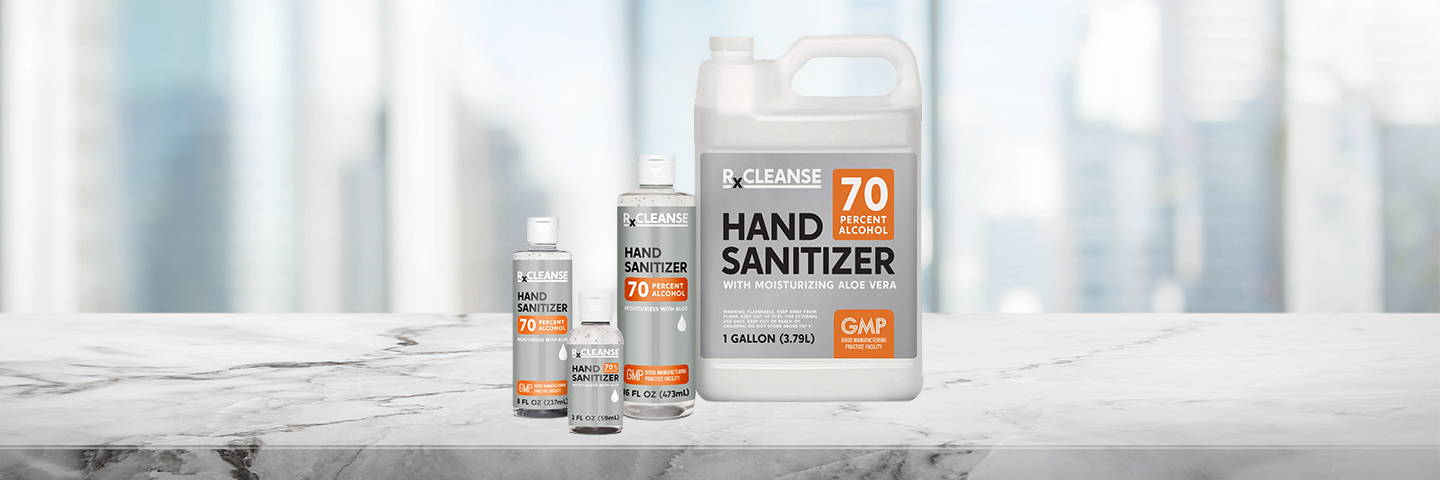 RxCleanse Hand Sanitizer Family (70% Alcohol)