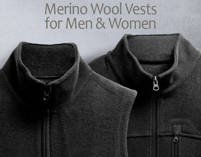 1449d05414 Merino Wool Vests - Warm Outdoors Vests For Men & Women