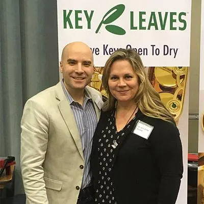 Key Leaves founder Rulon Brown with wife Kristen