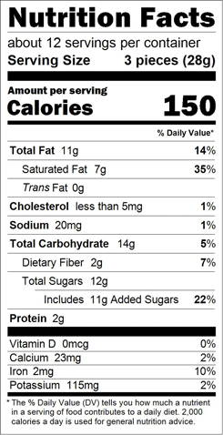 Pride Truffle Bag Nutrition Facts