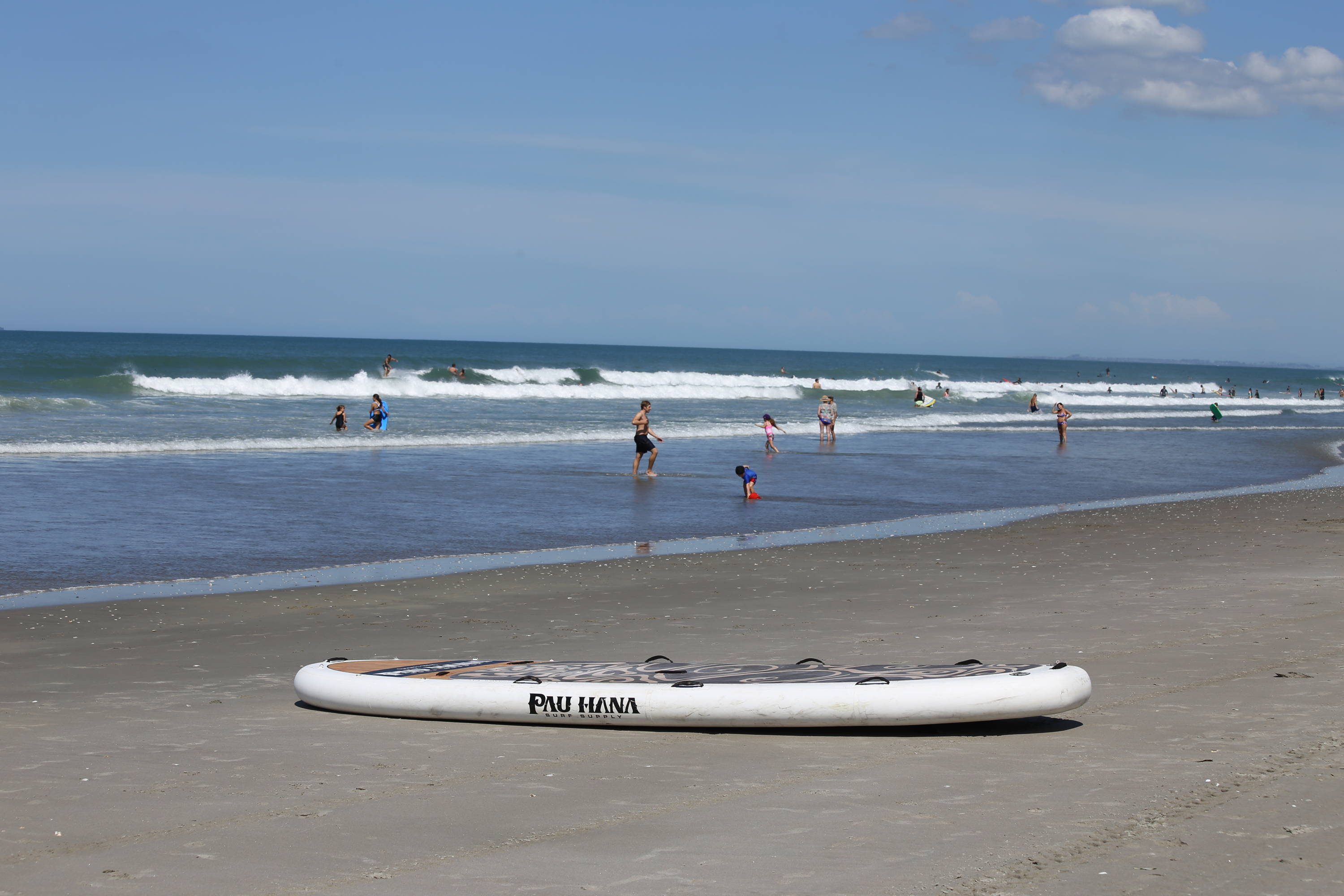 inflatable giant sup on the beach