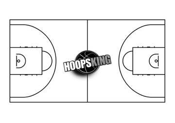 NBA Basketball Court Template Hoopsking