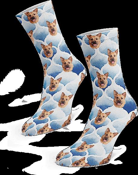 Custom pup socks