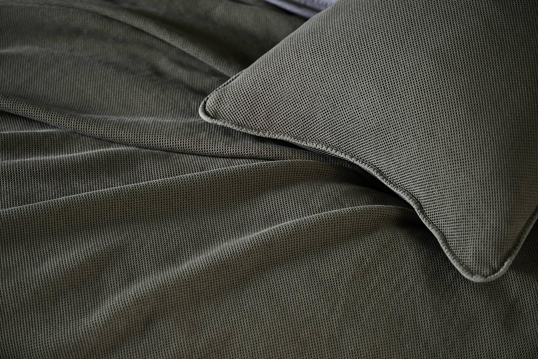 Interior Trend Senfgelb Olivgrün Bettwäsche Tagesdecke Kissen