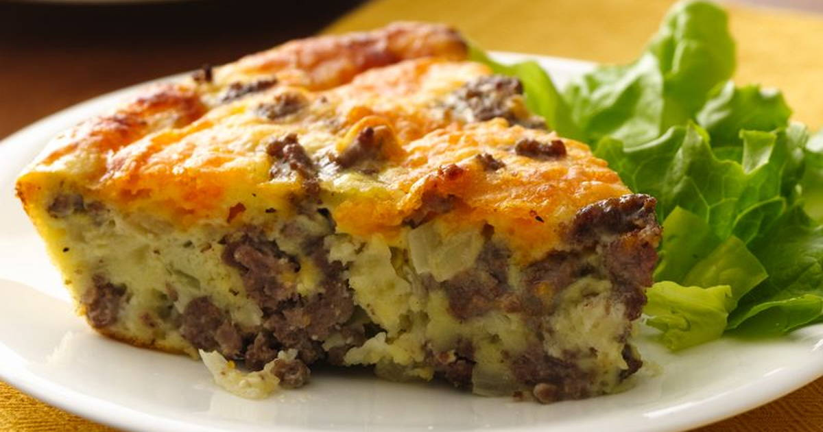 Slow Cooked bacon cheeseburger pie