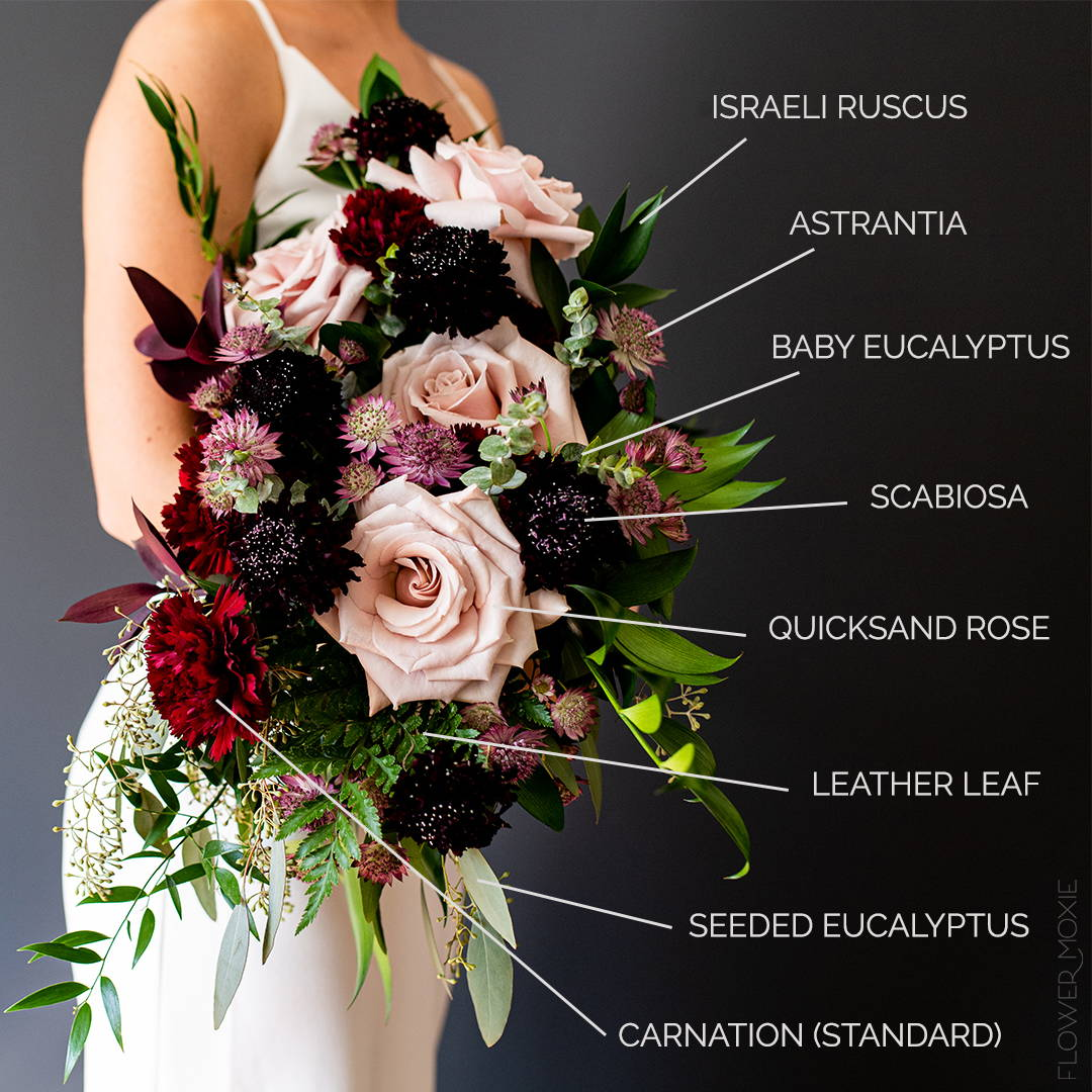 bridal bouquet flower identification