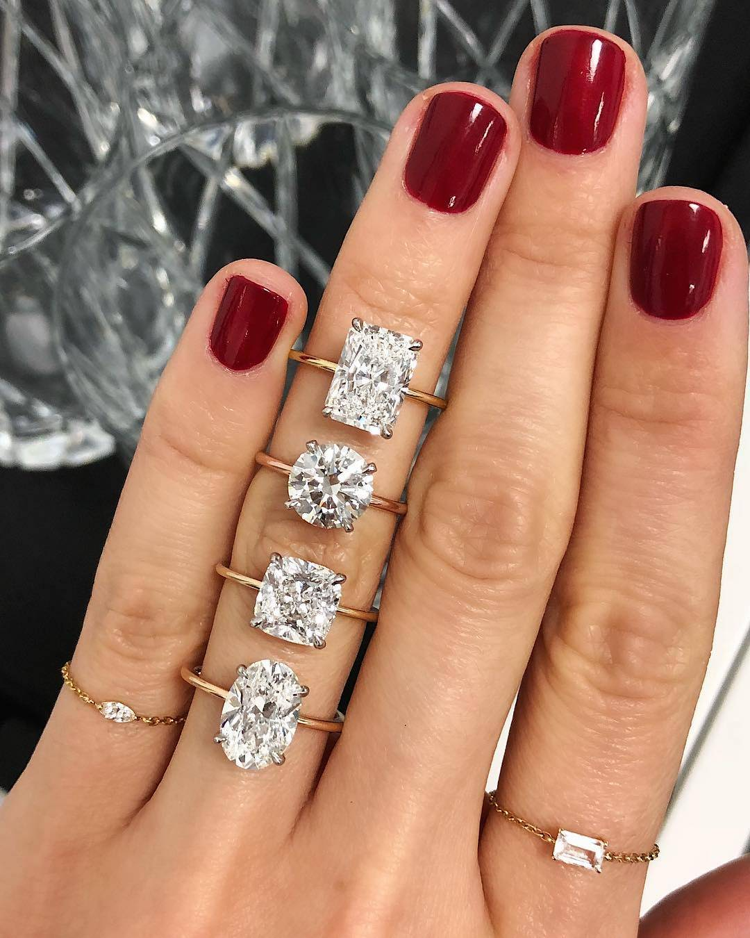 Ring On Left Ring Finger: 7 Engagement Ring Diamond Shapes To Know