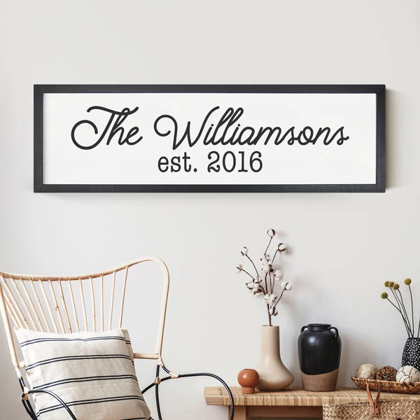 black large custom framed sign