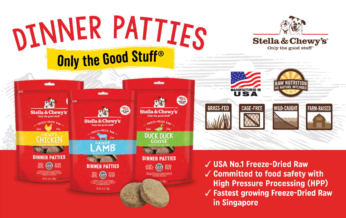 stella and chewys freeze dried raw dinner patties dog and cat