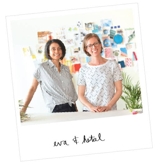 photo of flip & tumble founders Eva Bauer and Hetal Jariwala