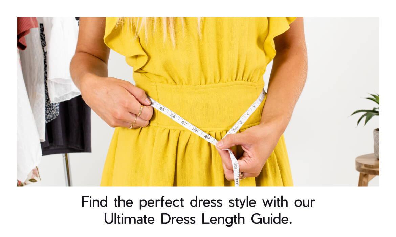 dress length, midi dress, maxi dress, mini dress, online boutique dresses