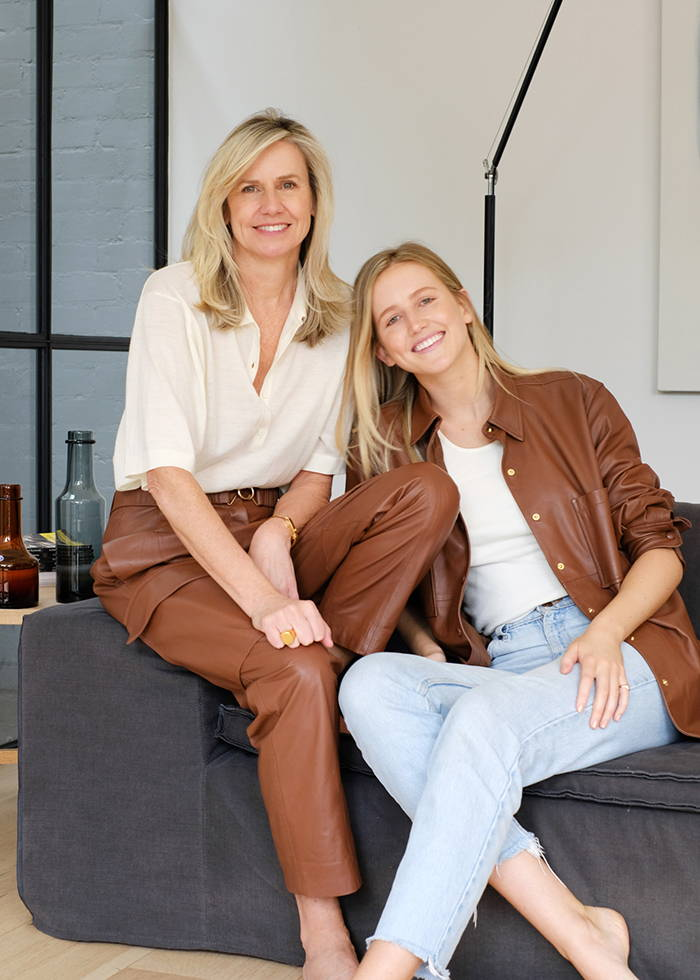 Sophie Holt and Daughter Wearing Oroton Leather Clothing for Women