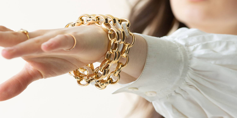 18k gold bracelets