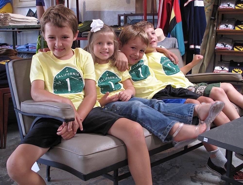 Surfing Cowboys Kids Tshirts