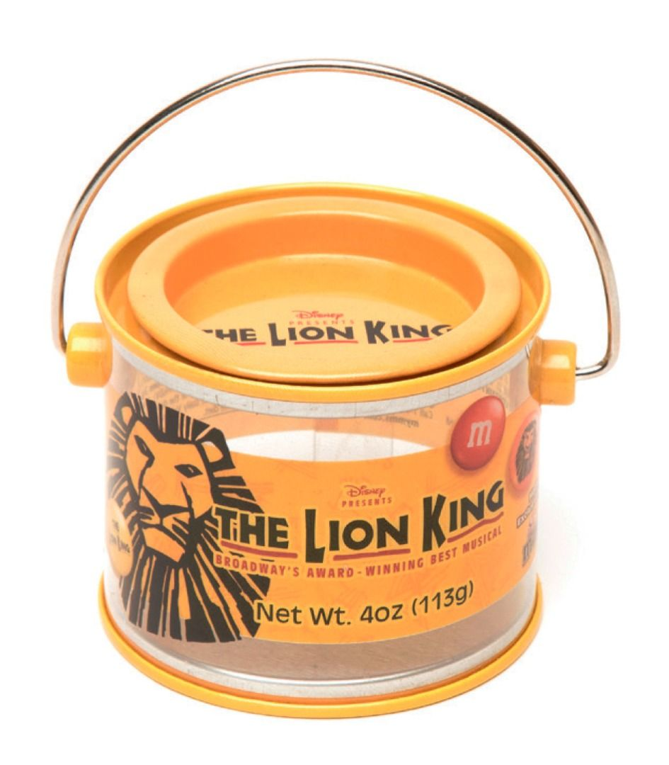 A PET and metal tin with a silk screen print finish