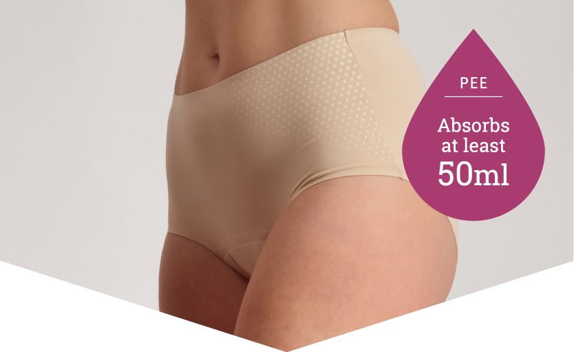 Bladder Leakage Underwear | 10 Teaspoons Worth | Just'nCase by Confitex