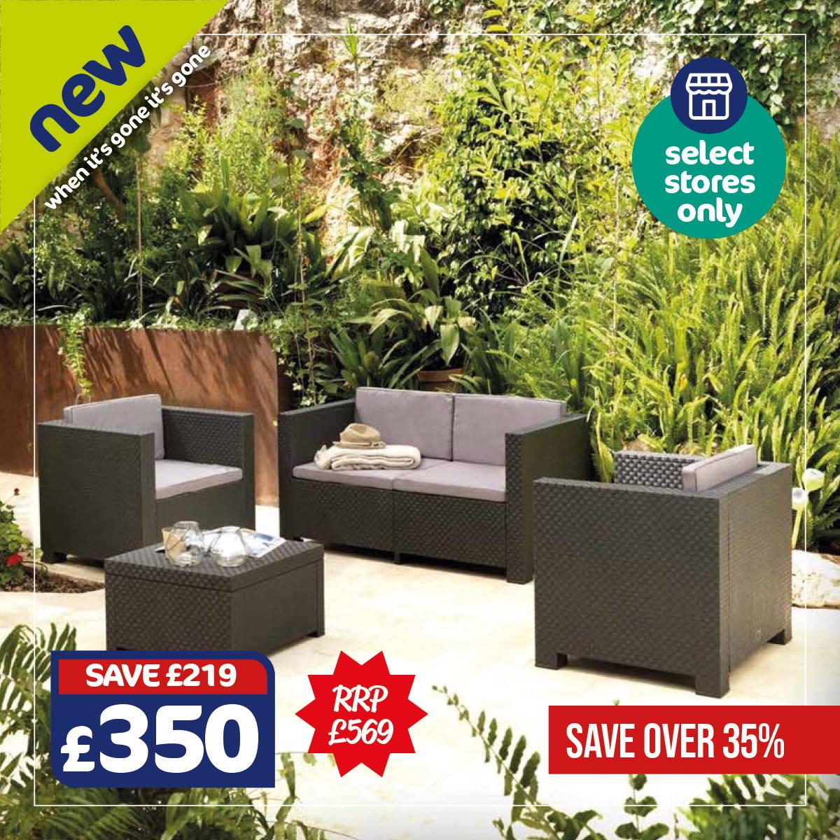 Rattan Garden Set - In Select Stores