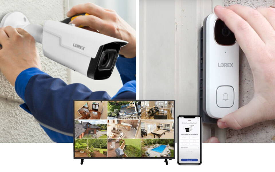 How to install security cameras banner