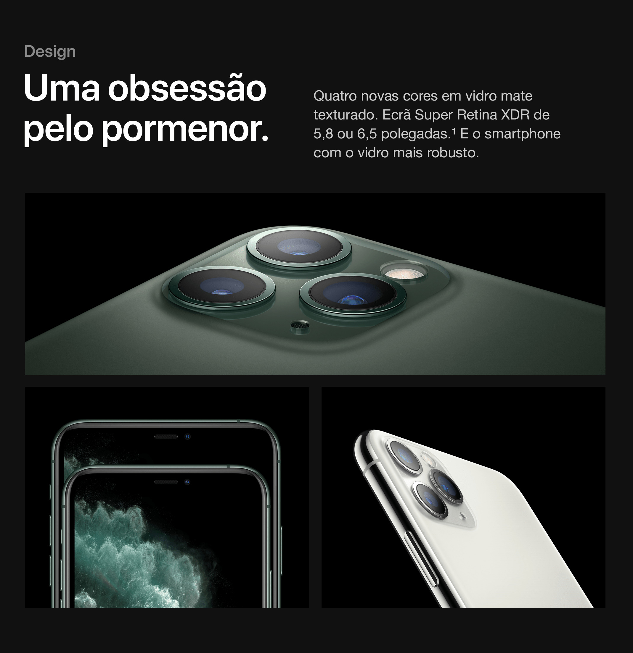 Smartphone com o vidro robusto.