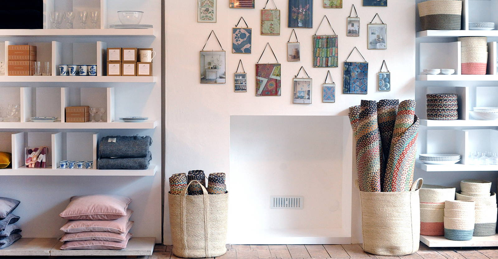 Braided Rugs, Frames and Baskets