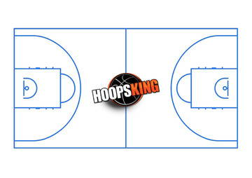 Basketball Court Diagram Hoopsking Blue